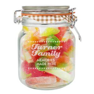 Personalised Hearts Glass Kilner Jar