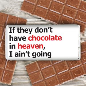 Personalised Heaven Slogan Chocolate Bar