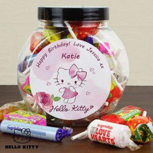 Personalised Hello Kitty Pink Blush Sweets Jar