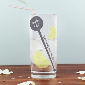 Personalised Hi Ball Stirrer Glass