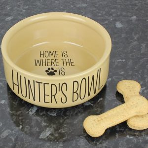 Personalised Home Is Where Large Dog Bowl