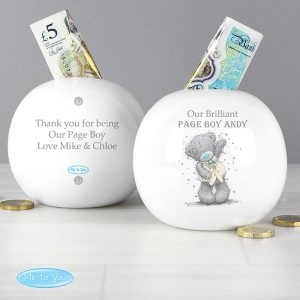 Personalised Me To You Boys Wedding Money Box