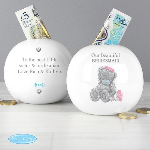 Personalised Me To You Girls Wedding Money Box