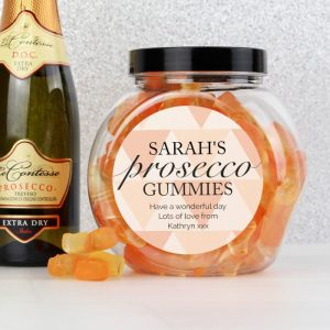 Personalised Prosecco Gummies Sweet Jar