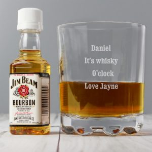 Personalised Tumbler & Miniature Jim Beam Set