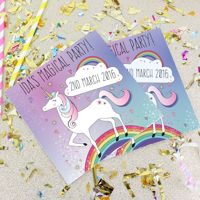 Personalised Unicorn Party Invitations   Love My Gifts