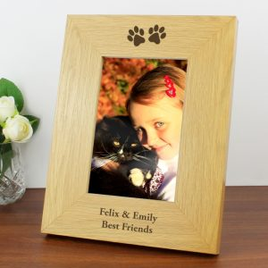 Personalised Paw Prints 6x4 Photo Frame