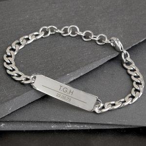 Personalised Classic Stainless Steel Unisex Bracelet