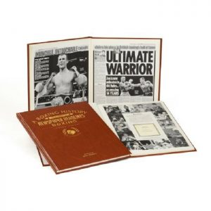 Personalised Boxing Newspaper Book