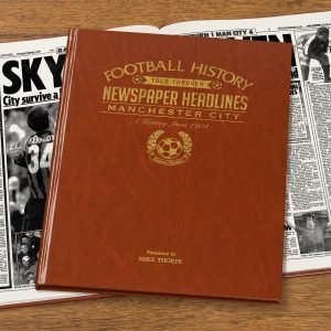Personalised Man City Football Newspaper Book