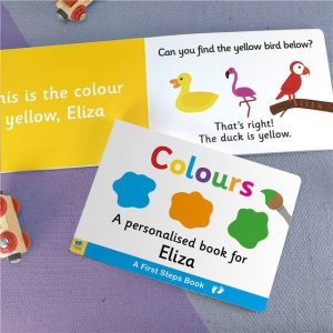 Personalised First Steps Colours Book