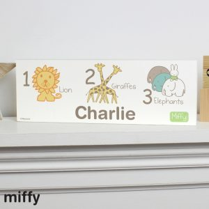 Personalised Miffy at the Zoo Mantel Block