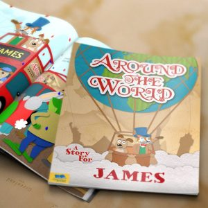 Personalised Around the World Hardback Book