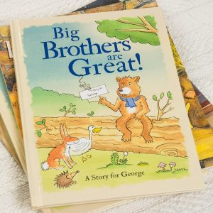 Personalised Big Brothers Are Great Hardback Book