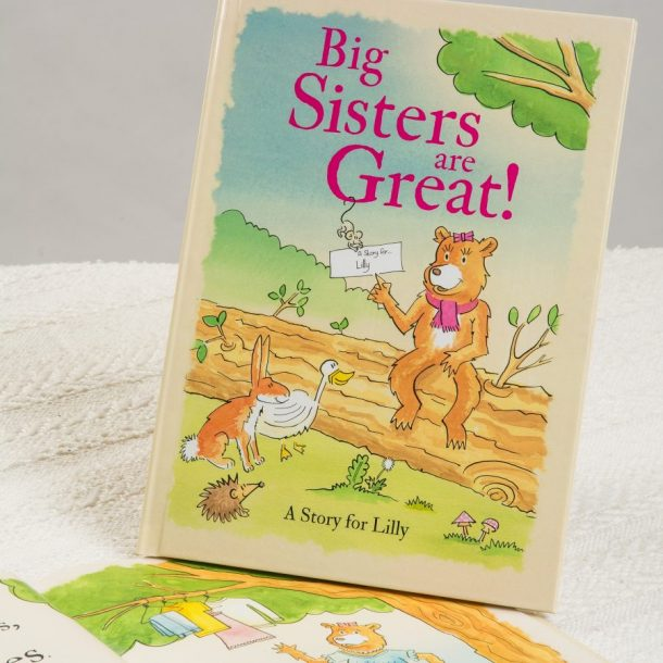 Personalised Big Sisters Are Great Hardback Book