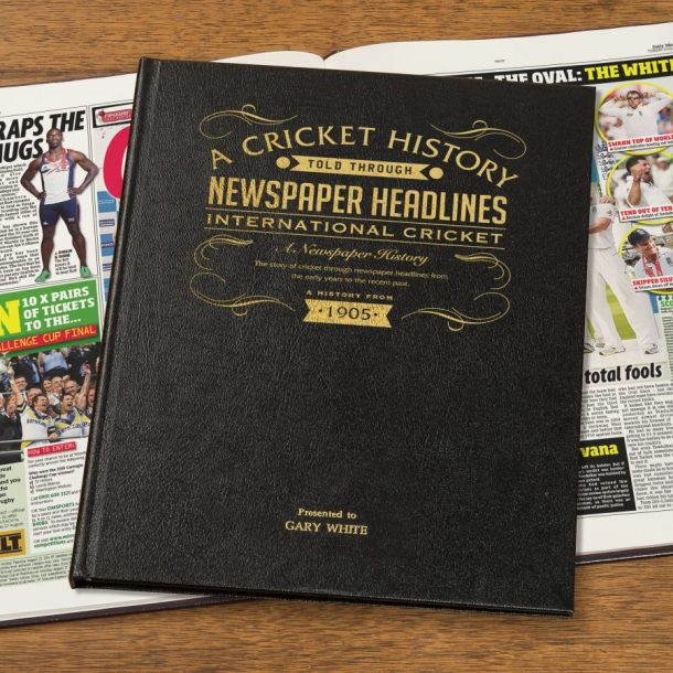 Personalised International Cricket Newspaper Book