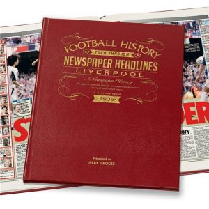 Personalised Liverpool Newspaper Football Book