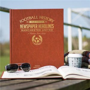 Personalised Man Utd Football Newspaper Book