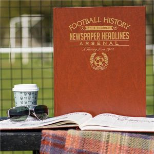 Personalised Arsenal Football Newspaper Book