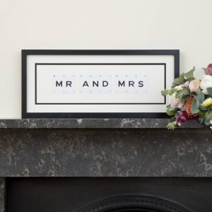 Mr And Mrs Vintage Frame