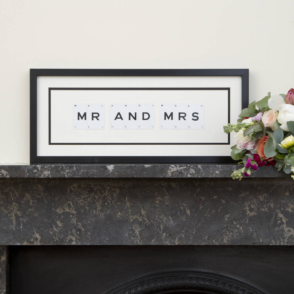 Mr And Mrs Vintage Frame | Love My Gifts
