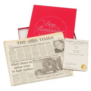 Original Newspaper & Gift Box - Any Date
