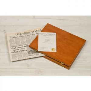 Original Newspaper & Wooden Gift Box - Any Date
