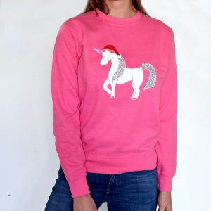 Personalised Christmas Glitter Unicorn Jumper