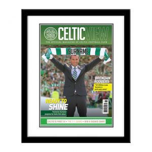 Personalised Framed Celtic Magazine Cover Print