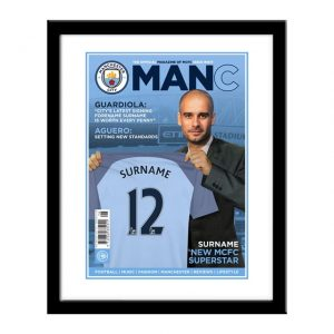 Personalised Framed Man City Magazine Cover Print