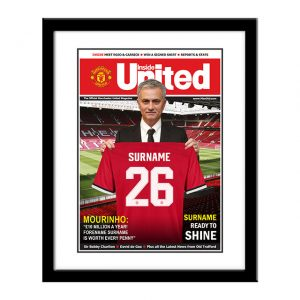 Personalised Framed Man Utd Magazine Cover Print