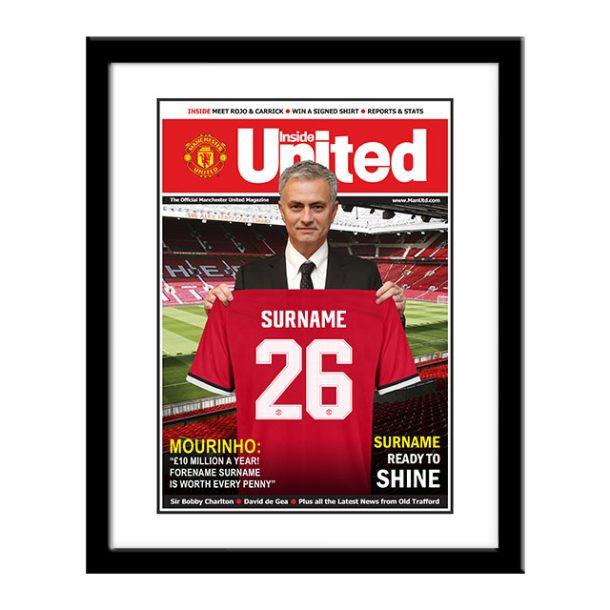 Personalised Framed Man Utd Magazine Cover Print