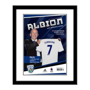Personalised Framed West Brom Magazine Cover Print
