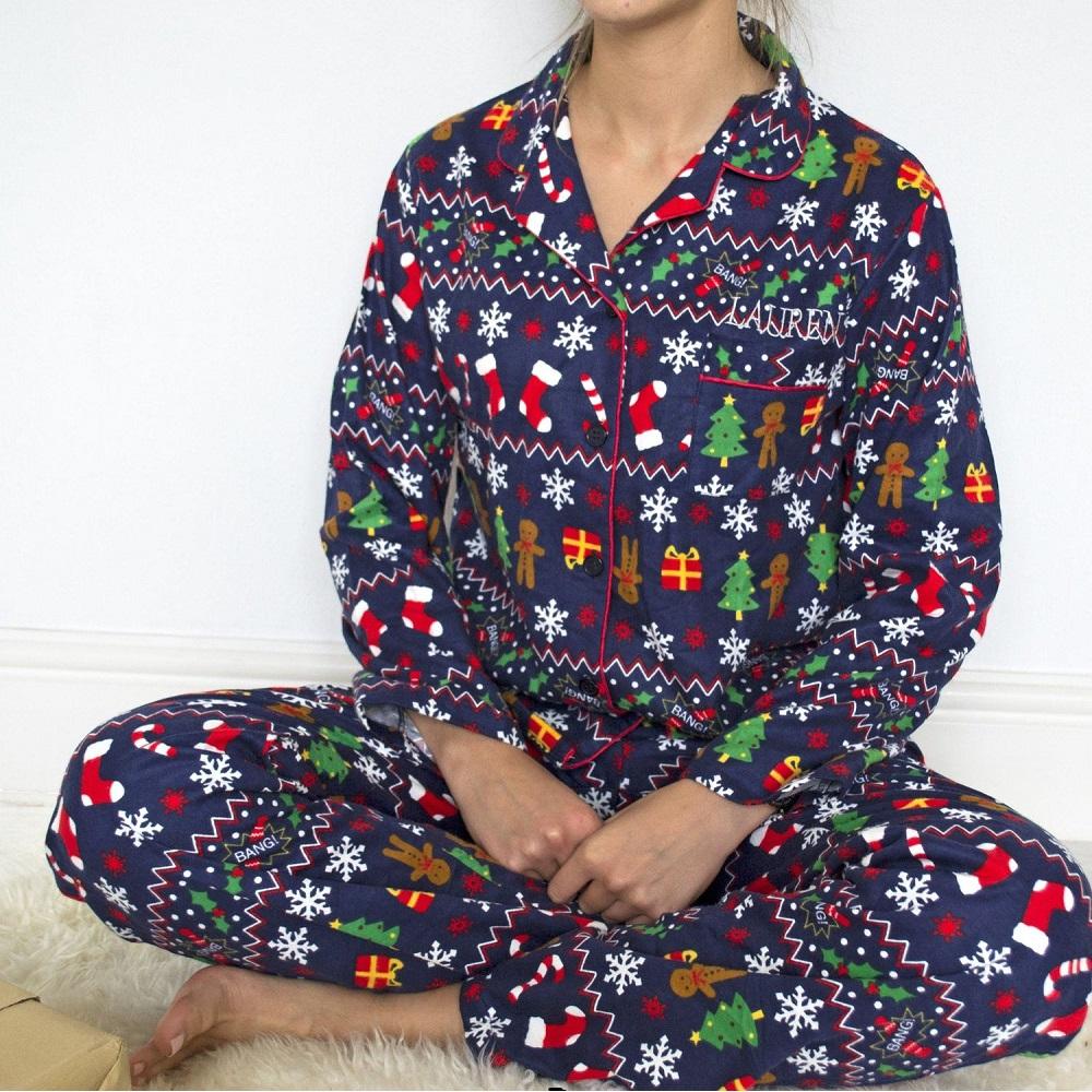Christmas Pajamas Womens.Personalised Ladies Christmas Pyjamas Love My Gifts