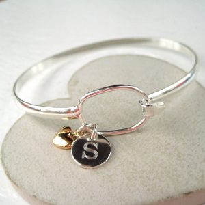 Personalised Letter Loop Bangle