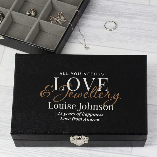 Personalised Love & Jewellery Organiser Box