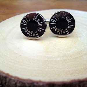 Personalised Made In Edge Cufflinks