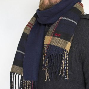 Personalised Men's Reversible Tartan Scarf