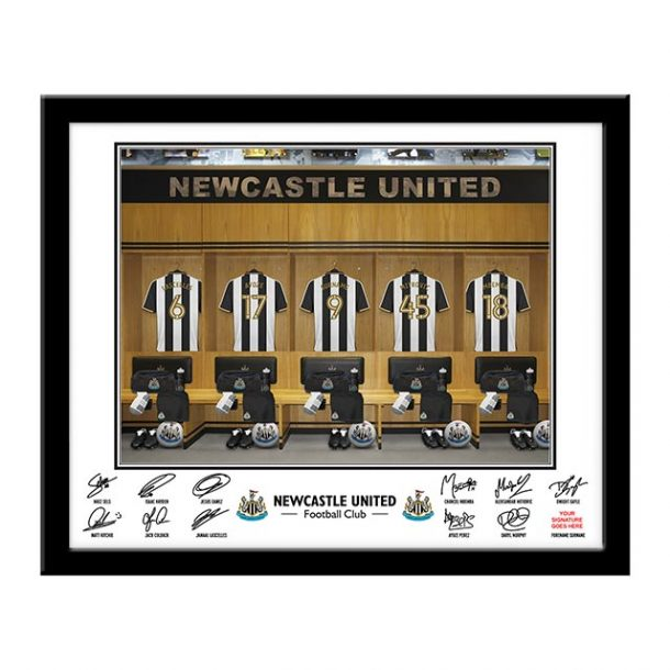 Personalised Newcastle Utd Dressing Room Framed Print