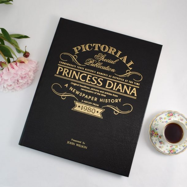 Personalised Princess Diana Pictorial Newspaper Book