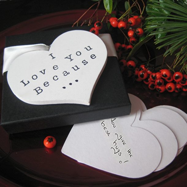Personalised Reasons Why I Love You Hearts & Gift Box