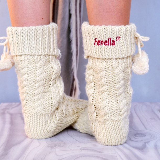 Personalised Slipper Boots