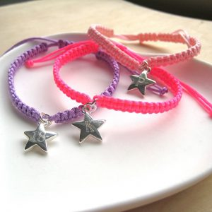 Personalised Star Braided Bracelet