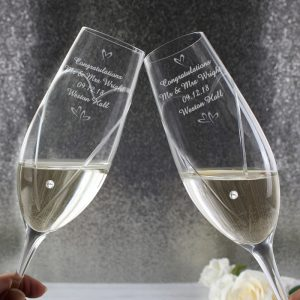 Personalised Swarovski Element Little Hearts Flutes