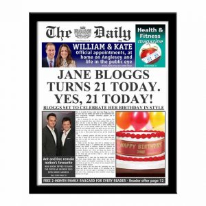 The Daily Personalised Birthday Spoof Newspaper