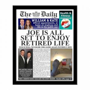 The Daily Personalised Retirement Spoof Newspaper