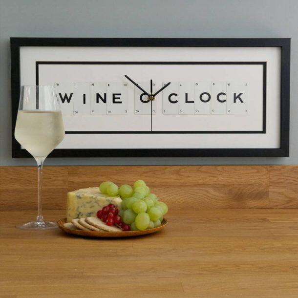 Wine O Clock Frame Clock