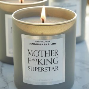 Mother Fking Superstar Candle – Lemongrass and Lime