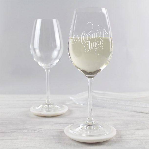 Mummy's Juice Wine Glass