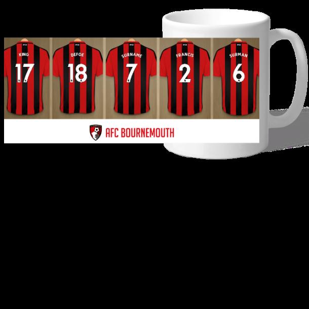 Personalised AFC Bournemouth Dressing Room Mug